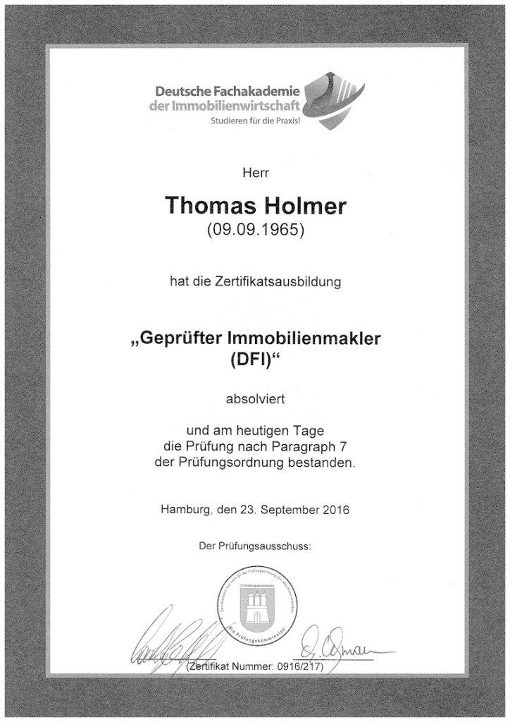 01_Zertifikat Immobilienmakler DFI 09 2016